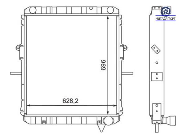 Радиатор водяной 54325-1301010ВВ